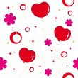 Seamless pattern with hearts — Imagen vectorial