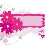 moldura grunge com flores — Vetorial Stock