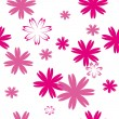 Stock Vector: Seamless pattern with pink flowers