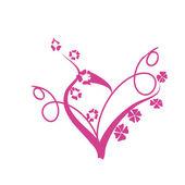 Cartolina di san valentino rosa — Vettoriale Stock