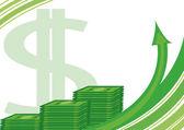 Rolls of dollars — Stock Vector