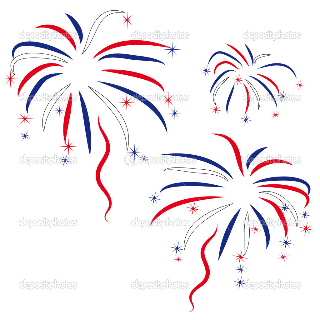 Firework in honour of Independence Day — Stock Vector #1536857