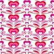 Royalty-Free Stock Vektorgrafik: Seamless pattern with hearts