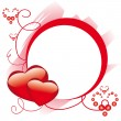 Royalty-Free Stock Векторное изображение: Circle frame with hearts