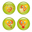 Set of four st. Valentine buttons — Stock Vector #1631197
