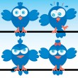 Blueberds icon set - Image vectorielle