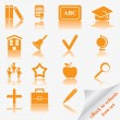 Stock Vector: Back to school icon set