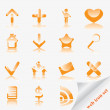 Glossy web icon set - Stock Vector