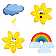 Fanny weather icons — Stock Vector