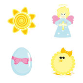 Cartoon icons for Easter design — Stock Vector