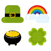 Set of icons for St. Patrick's day — Stock Vector