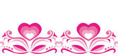 Seamless ornament with pink hearts — Stock Vector