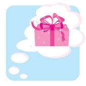 мечтаю о подарок — Cтоковый вектор