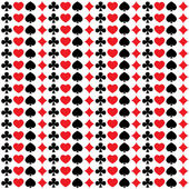 Bezešvé vzor s hrací karty obleky — Stock vektor