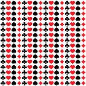 Modèle sans couture avec des combinaisons de cartes à jouer — Vecteur