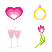 Set of icons for st. Valentine day — Stock Vector