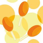 Padrão sem emenda com sorvete de laranja — Vetor de Stock