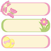 Set of three banners for Easter design — Stock Vector