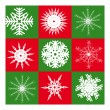 Royalty-Free Stock Vector Image: Nine white snowflakes