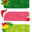 Set of christmas banners — Stock Vector