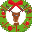 Royalty-Free Stock Vector Image: Christmas background with deer