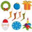 Royalty-Free Stock Vector Image: Set of christmas elements