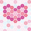 Royalty-Free Stock Imagen vectorial: Heart with snowflakes