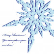 Royalty-Free Stock Vectorafbeeldingen: Christmas frame with snowflake