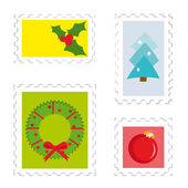 Set of postage stamps — Stock Vector
