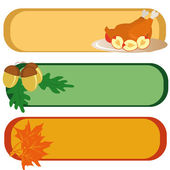 Three banners for Thanksgiving Day — Stock Vector