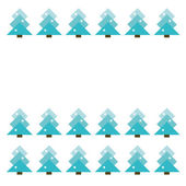Frame with abstract christmas trees — Stock Vector