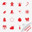 Christmas icon set for your design — Stock Vector