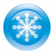 Royalty-Free Stock Vector Image: Three blue buttons with snowflakes