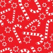 Seamless pattern with candycanes — Stock Vector #1691677
