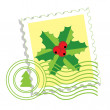 Royalty-Free Stock Vector Image: Postage stamp with holly