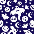 Stock Vector: Seamless halloween background