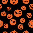 图库矢量图片: Seamless pattern with orange pumpkins