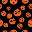 Seamless pattern with orange pumpkins — Stock Vector