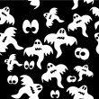 Seamless pattern with ghosts — ストックベクタ