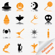 Stock Vector: Halloween icon set