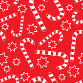 Seamless pattern with candycanes — Stock Vector