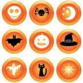 Conjunto de botões de halloween — Vetor de Stock