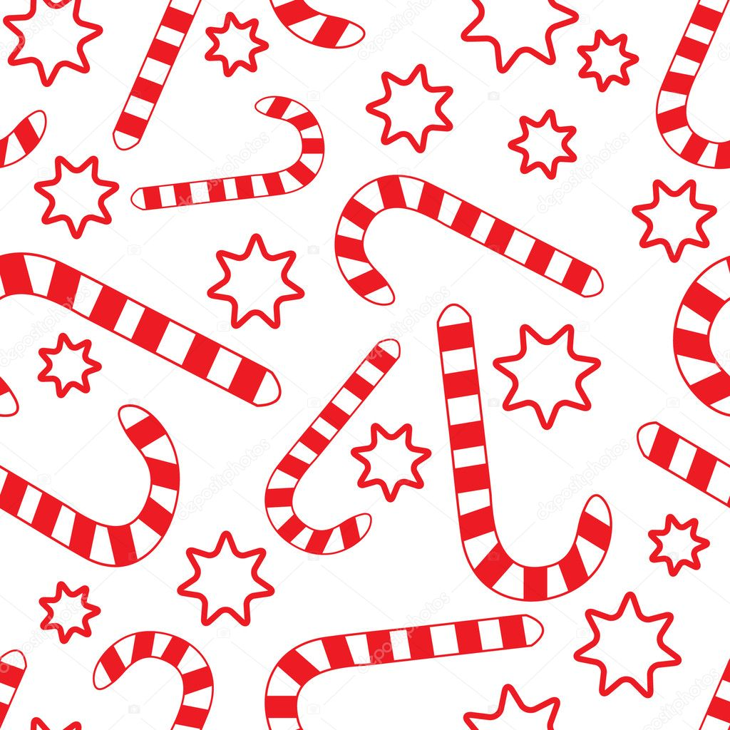 Candy Cane Pattern Seamless pattern with candy