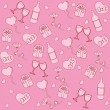 Valentine seamless pattern — Stockvectorbeeld