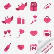 Valentine icon set — Stock vektor