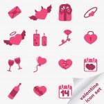 Valentine icon set — Stock Vector