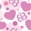 Royalty-Free Stock Vector Image: Valentine seamless pattern