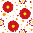 Stock Vector: Seamless pattern with flowers