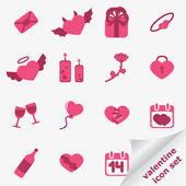Valentine icon set — Stock Vector