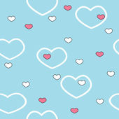 Vector valentine seamless pattern — ストックベクタ